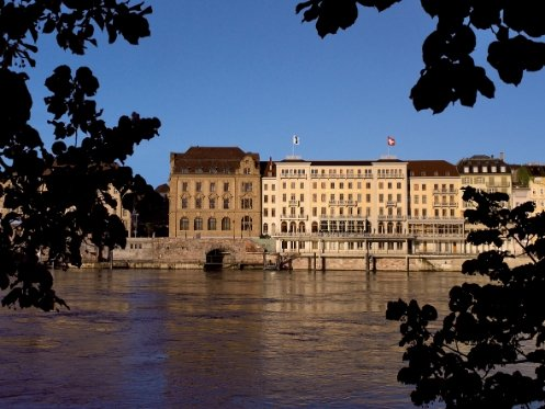 Basel's oldest luxury hotel, the Grand Hotel Les Trois Rois.