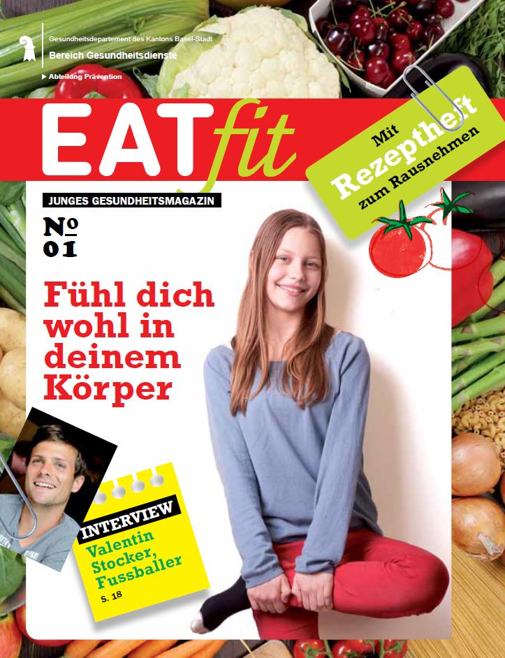 Deckblatt Jugendmagazin Eat fit
